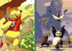 Similarities: Winnie and Panda